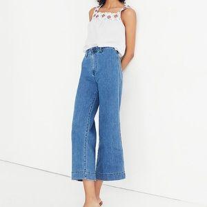 NWOT Madewell Emmett Wide-Leg Crop Jeans Women 25T